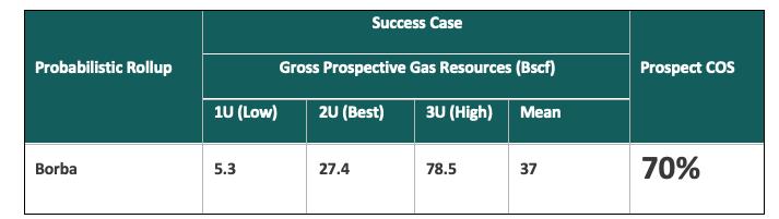 Gross Success Case Prospective Resources (ERCE).