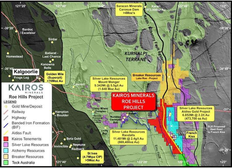 Roe Hills project area