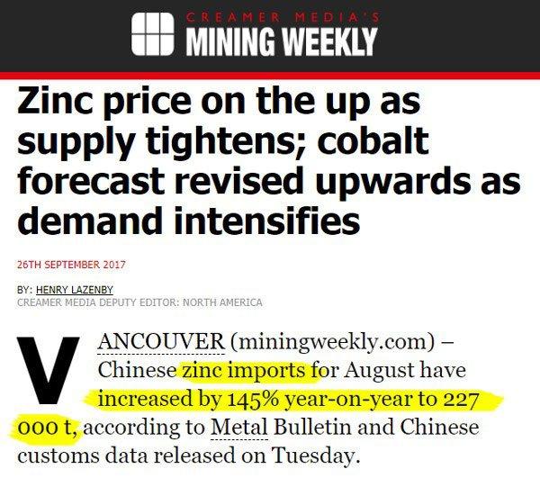 Mining weekly cobalt forecast
